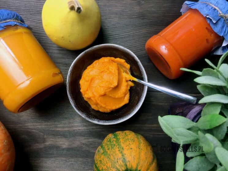 Puree z dyni to podstawa zupy kremu, wspaniały dodatek do ciast, placków, koktajli i innych pysznych dań a także świetny zamiennik jajek w kuchni wegańskiej